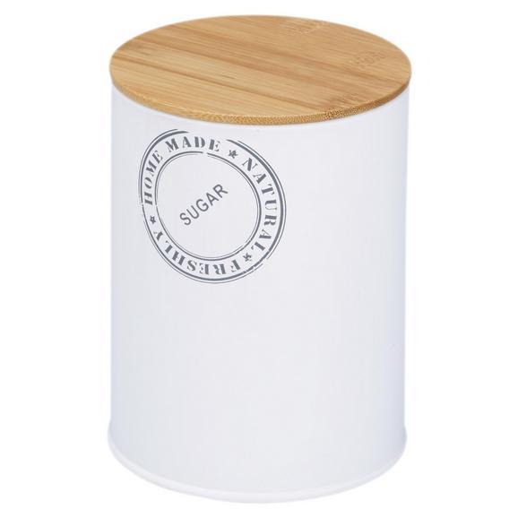 Box mit Deckel Callie Naturfarben/Weiß - Naturfarben/Weiß, MODERN, Holz/Metall (11/15cm)