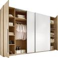 Schiebetürenschrank Weiß/san Remo Eiche - Eichefarben/Alufarben, KONVENTIONELL, Holz/Holzwerkstoff (270/225/61cm) - Modern Living