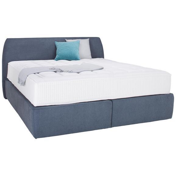 Boxbett in Grau ca. 180x200cm - Grau, KONVENTIONELL, Holzwerkstoff/Textil (180/200cm) - Premium Living