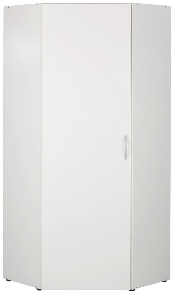 Kotna Omara Mrk - aluminij/bela, umetna masa/leseni material (80/185/80cm)