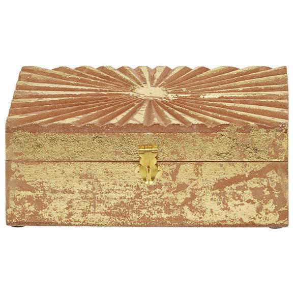 Dekorativna Škatla Lara - zlata, les (21/11/8cm)