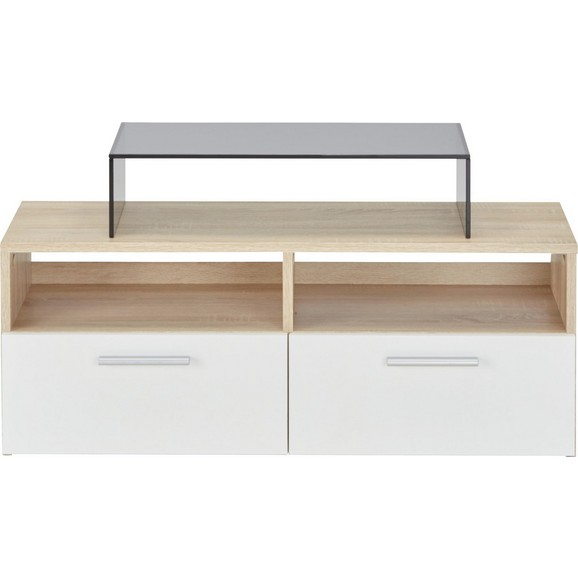 lowboard in sonoma eiche wei online kaufen m max. Black Bedroom Furniture Sets. Home Design Ideas