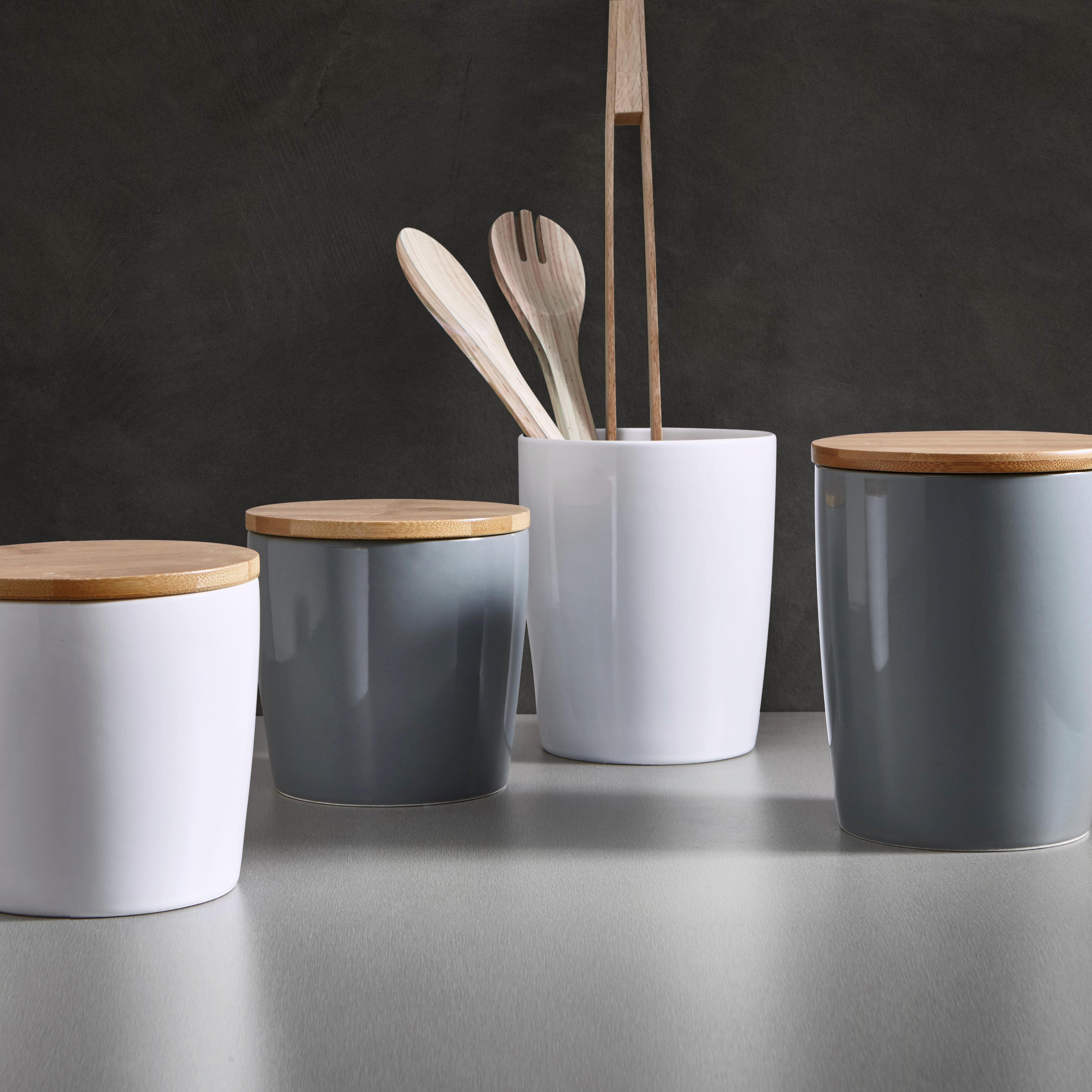 Porzellandose Haku mit Deckel - Naturfarben/Weiß, MODERN, Holz/Keramik (13/13cm) - MÖMAX modern living