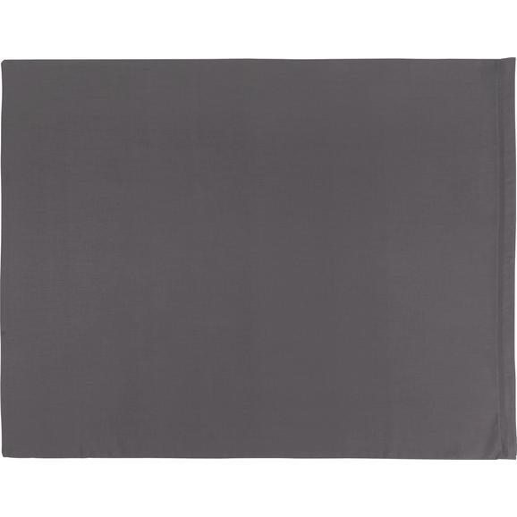 Kissenhülle BELINDA, ca. 70x90cm - Anthrazit/Hellgrau, Textil (70/90cm) - Premium Living