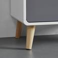 HIGHBOARD in Grau/Weiß 'Daniela' - Weiß/Grau, MODERN, Holz (70/140/38cm) - Bessagi Home