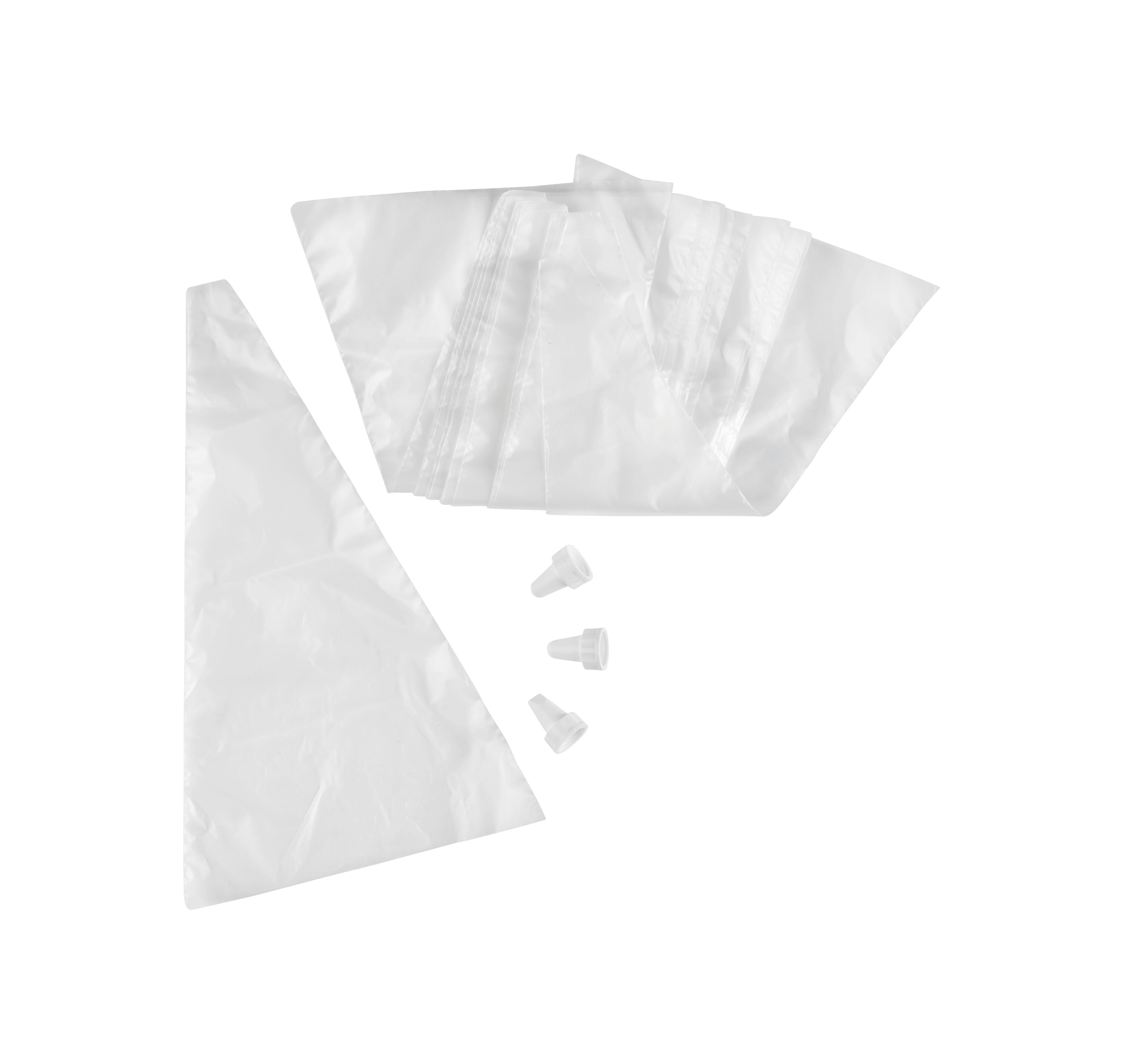 Tortadíszítő Zsák Egyszeri Használatra - tiszta/fehér, konvencionális, műanyag