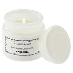 Kerze im Glas mit Deckel Aurelie Weiß - Weiß, Glas (10/10cm) - Mömax modern living