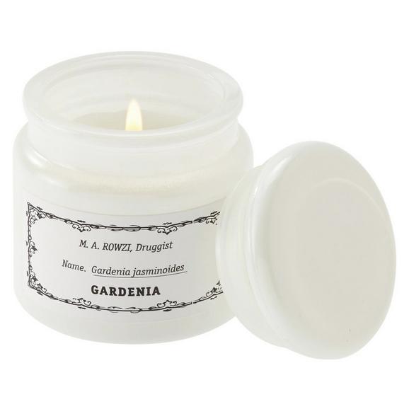 Kerze im Glas mit Deckel Aurelie Weiß - Weiß, Glas (6,5/7cm) - Mömax modern living