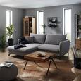 Wohnlandschaft in Grau mit Bettfunktion - MODERN, Textil (173/91/227cm) - Modern Living