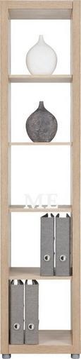 Predelna Stena Aron - hrast, umetna masa/leseni material (44/191/35cm)