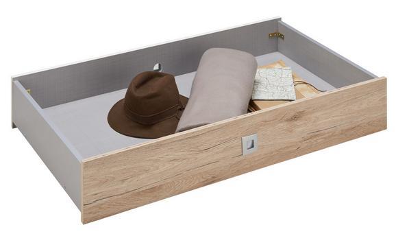 Bettschubkasten in Weiß 2er Set - Eichefarben/Weiß, Holz/Holzwerkstoff (100/16/60cm) - Modern Living
