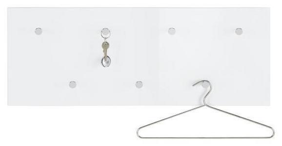 Wandgarderobe in Weiß - Weiß, Holzwerkstoff/Metall (80/30/5.5cm) - Mömax modern living