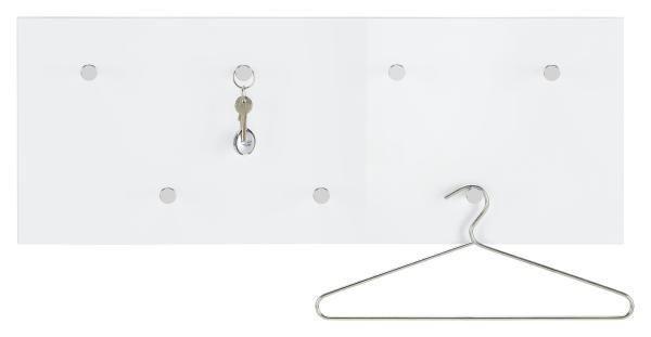 Wandgarderobe in Weiß - Weiß, LIFESTYLE, Holzwerkstoff/Metall (80/30/5.5cm) - MÖMAX modern living