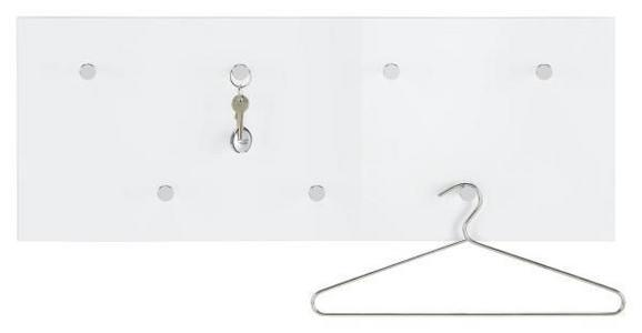 Wandgarderobe Weiß - Weiß, LIFESTYLE, Holzwerkstoff/Metall (80 30 5.5cm) - Mömax modern living