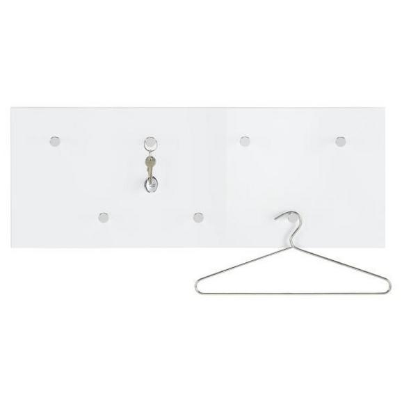 Wandgarderobe Weiß - Weiß, LIFESTYLE, Holzwerkstoff/Metall (80/30/5.5cm) - Mömax modern living