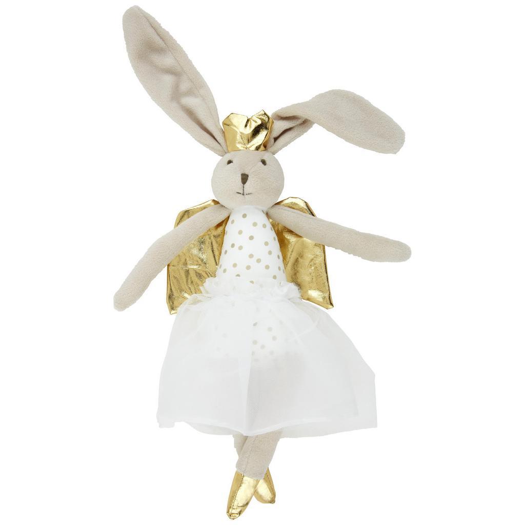 Plüschtier Angelina Weiß/Gold