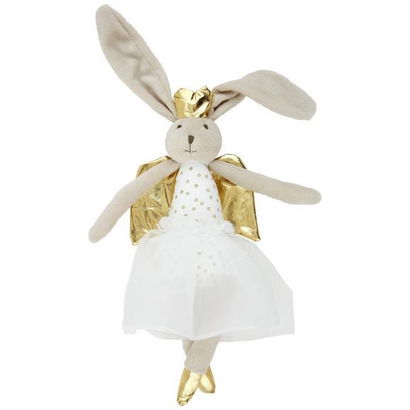 Plüschtier Angelina Weiß/Gold - Weiß, Textil (36cm) - Mömax modern living