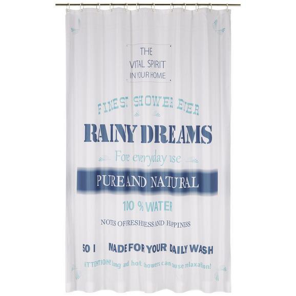 Kopalniška Zavesa Rainy Dreams - modra, tekstil (180/200cm) - Mömax modern living