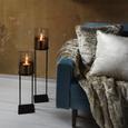 Windlicht Theo Schwarz/Goldfarben - Goldfarben/Schwarz, Glas/Metall (15/60,50cm) - Mömax modern living