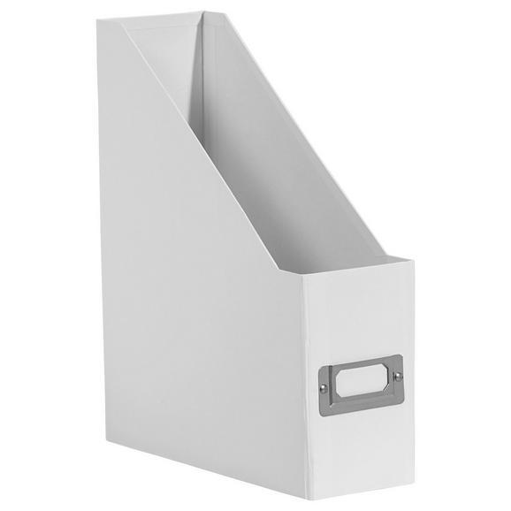 Stehsammler Lorenz in Weiß - Weiß, Karton/Metall (29/8,6/24,2cm) - Mömax modern living