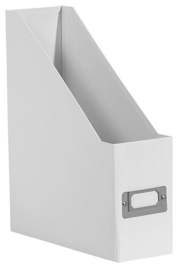 Stehsammler Lorenz Weiß, Faltbar - Weiß, Karton/Metall (29/8,6/24,2cm) - Mömax modern living