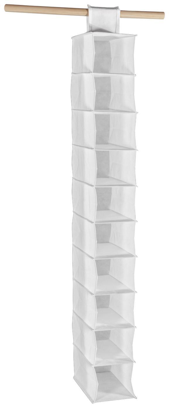 Felakasztható Tároló Cliff 1 - fehér, modern, textil (15,5/120/30cm)