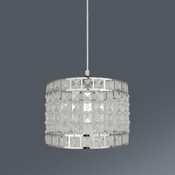 Hängeleuchte Jonna max. 1x40Watt - Weiß, KONVENTIONELL, Kunststoff/Metall (25/128cm) - Mömax modern living