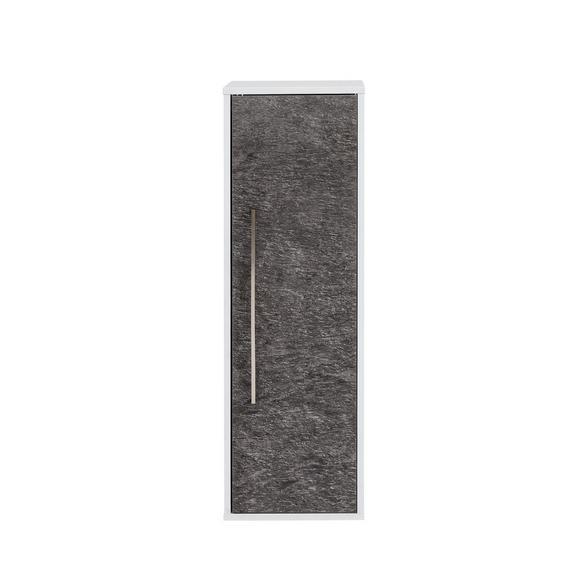 Midischrank in Schieferfarben - Schieferfarben/Weiß, MODERN, Holzwerkstoff/Metall (33/102,5/33,5cm)