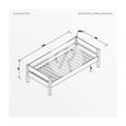 Kinder-/Juniorbett Nik 90x200 cm Buche/weiss - Design (90/200cm)