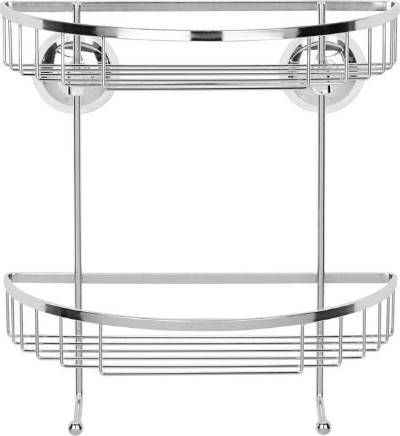Duschregal in Chromfarben - Chromfarben, Metall (24/25,50/14cm) - Mömax modern living