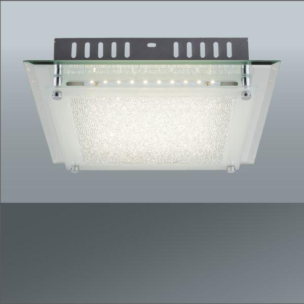 Led Mennyezeti Lámpa Chris - krómszínű/fehér, modern, üveg/fém (28/7cm) - MÖMAX modern living