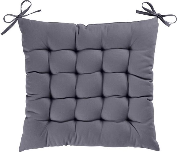 Sitzkissen Kim 40x40cm - Grau, KONVENTIONELL, Textil (40/40/5cm) - Mömax modern living