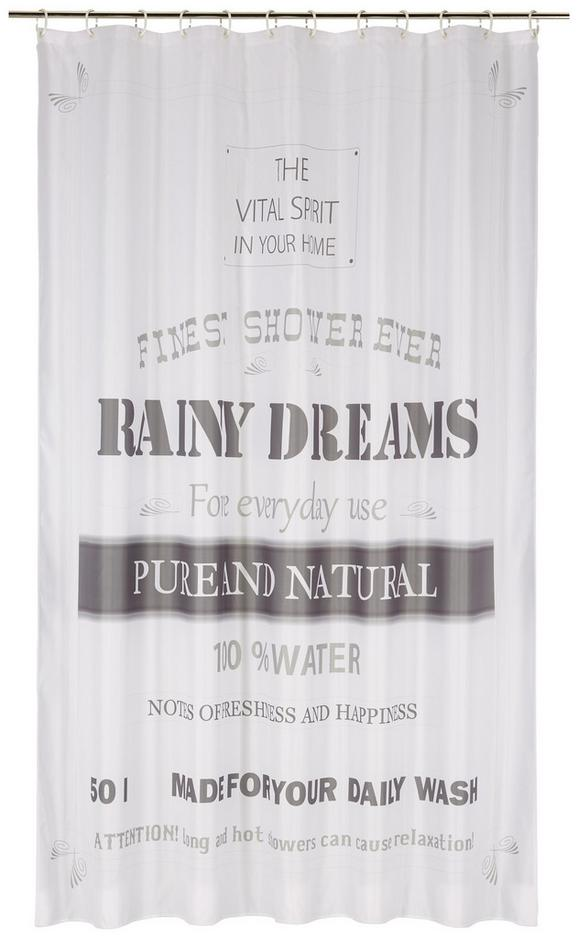 Duschvorhang Rainy Dreams Grau/Weiß - Grau, Textil (180/200cm) - Mömax modern living