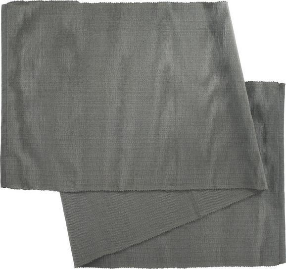 Tischläufer Maren in Anthrazit - Anthrazit, Textil (40X/150cm) - MÖMAX modern living