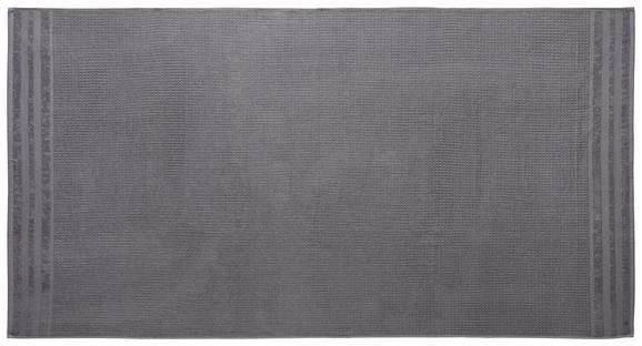 Saunatuch Waffel Grau - Grau, Basics, Textil (90/180cm) - Mömax modern living