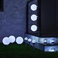 Gartenleuchte LED-Solar Luke ca. Ø 20 cm - Silberfarben, MODERN, Kunststoff (20cm) - Bessagi Garden