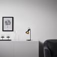 Tischleuchte Aston - Schwarz, MODERN, Kunststoff/Metall (13,5/19/33cm) - Bessagi Home