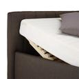 Polsterbett in Braun ca. 180x200 cm - Braun, KONVENTIONELL, Holzwerkstoff/Textil (180/200cm) - Modern Living