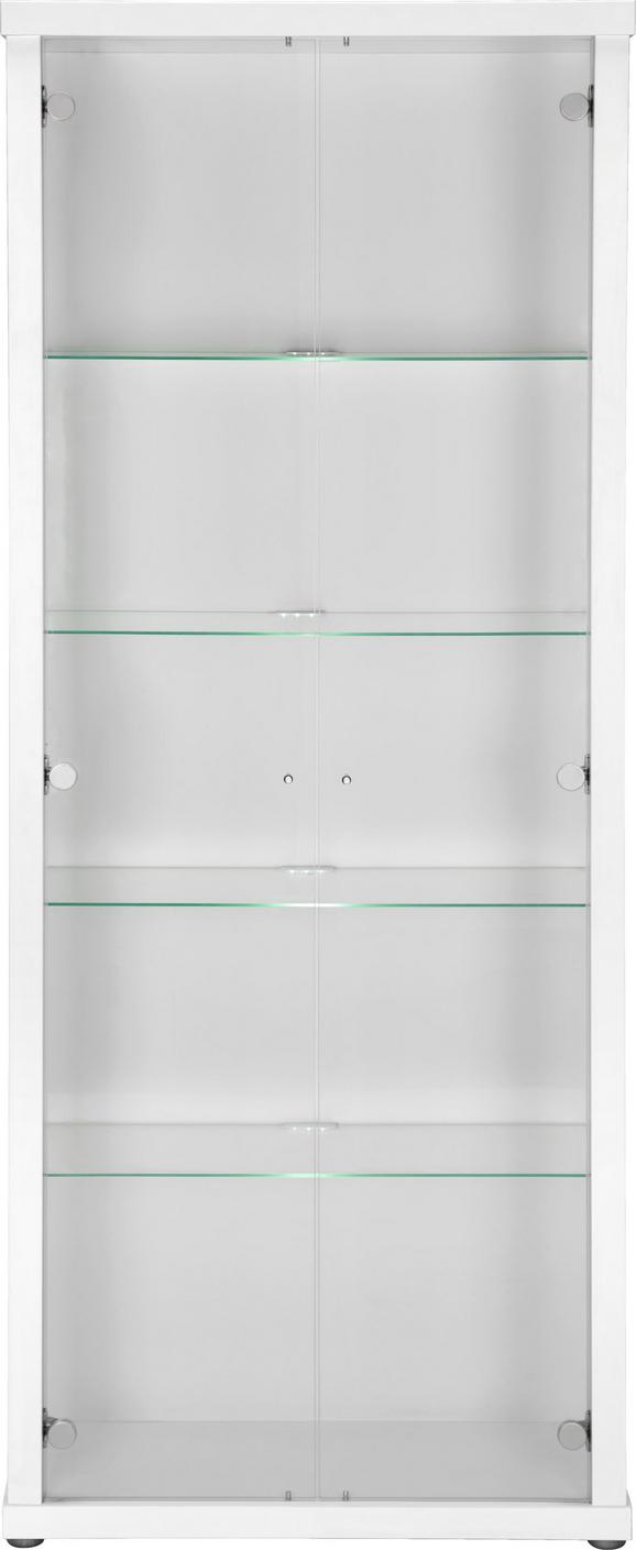 Vitrine Weiß - Alufarben/Weiß, Glas/Holzwerkstoff (70/178/30cm) - MÖMAX modern living