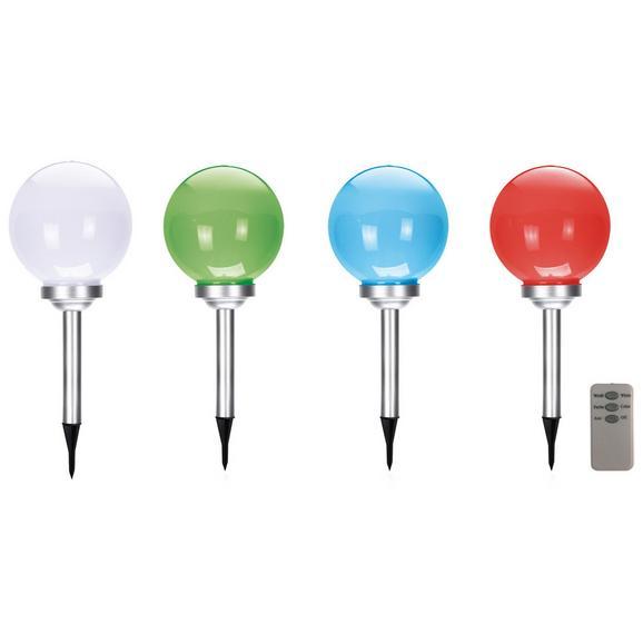 Lampă Solară Tiago - alb, plastic (25/55cm) - Modern Living