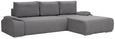 Sedežna Garnitura Space - siva, Moderno, tekstil (286/88/188cm) - MODERN LIVING