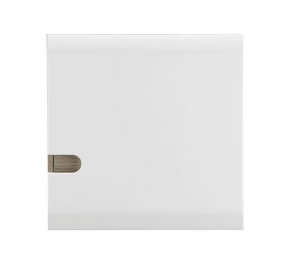 Hängeelement Weiß Hochglanz/Trüffel - Trüffeleichefarben/Weiß, MODERN, Holzwerkstoff (55/55/28cm)