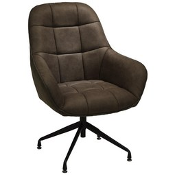 Sessel in Braun/Schwarz - Schwarz/Braun, MODERN, Textil/Metall (73/100/75cm) - Modern Living