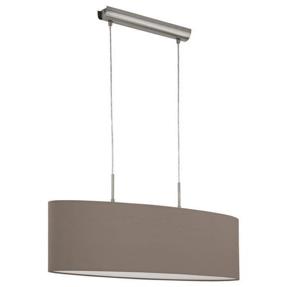 Hängeleuchte Pasteri max. 60 Watt - Taupe/Nickelfarben, MODERN, Textil/Metall (75/22/110cm)