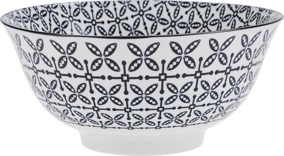 Skleda Shiva - črna/bela, Trendi, keramika (21/8cm) - Mömax modern living