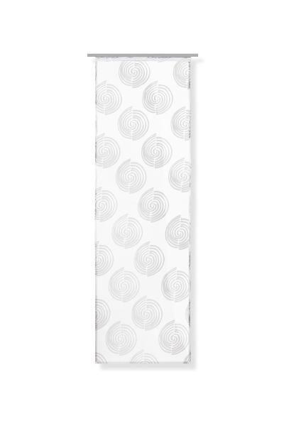 Flächenvorhang Hypno in Weiß, ca. 60x245cm - Weiß, Textil (60/245cm) - MÖMAX modern living