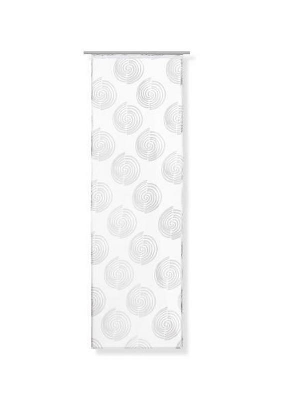 Flächenvorhang Hypno Weiß 60x245cm - Weiß, Textil (60/245cm) - Mömax modern living