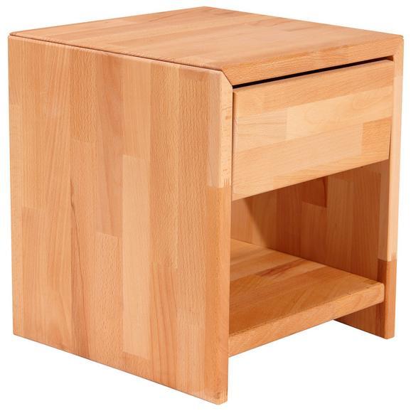 Noptieră Elisabeth - culoare lemn fag, Konventionell, lemn (40/40/33cm)
