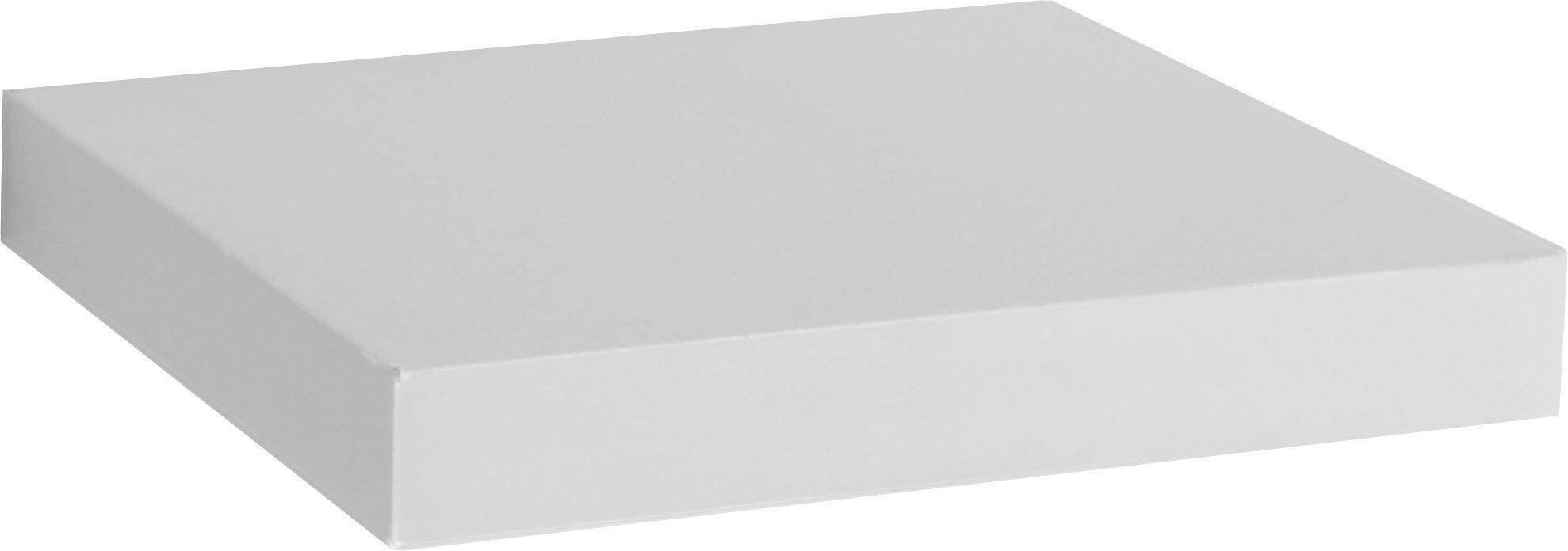 Falipolc Simple - fehér, modern, faanyagok (23,5/3,8/23,5cm)