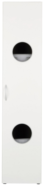 Schrank Weiß - Alufarben/Weiß, Holzwerkstoff/Kunststoff (40/185/40cm) - Mömax modern living
